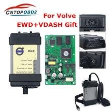 Per Volvo Vida Dadi 2014D BD2 Auto Strumento di Diagnostica Per Volvo Vida Dadi 2014A con EWD Bordo Verde Multi lingua OBD2 Auto Scanner