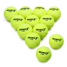 Набор из 12 мячей для тенниса без прессования с мешком из сетки, резиновый тренировочный мяч для тренировок, теннисные мячи, игрушки для домашних животных