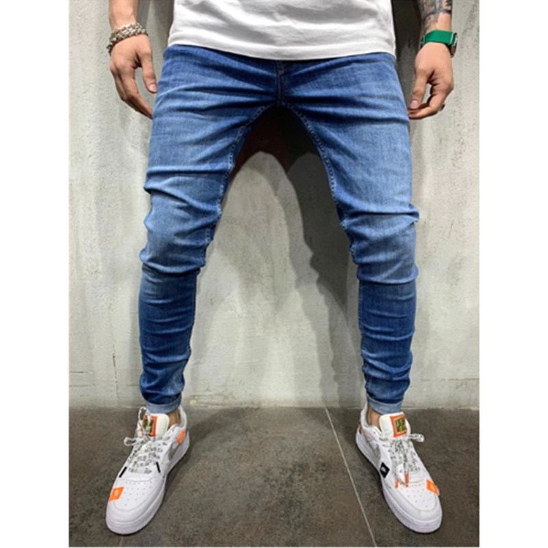 2019 autumn New men   Jeans   Black Classic Fashion Designer Denim Skinny   Jeans   men's casual High Quality Slim Fit Trousers