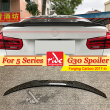 G30 Spoiler Rear Trunk Wing tail M4 Style Forging Carbon For BMW 520i 530i 530d 540i 550i Rear Trunk lip Spoiler Car Wing 2017+ g30 spoiler rear trunk wing tail m4 style forging carbon for bmw 520i 530i 530d 540i 550i rear trunk lip spoiler car wing 2017