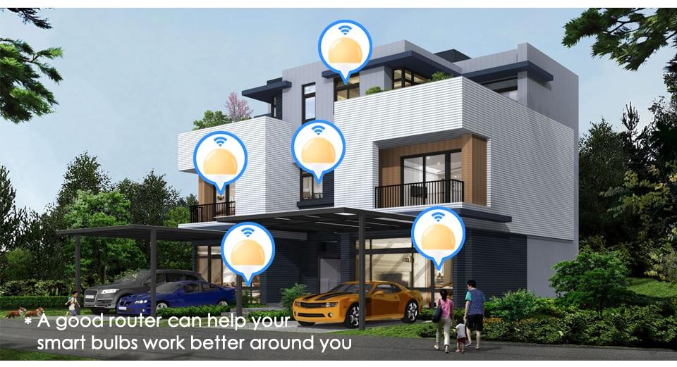 15 w b22 lâmpada led wifi app