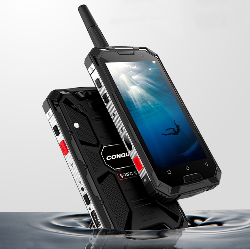 CONQUEST S8 IP68 Rugged Smart Phone 4GB 64GB Android 6.0 Octa Core Waterproof Mobile Phone NFC/IR/SOS/OTG/FM/Walkie Talkie Phone