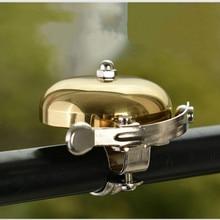 Велосипедный звонок металлический колокольчик громкий звук одно касание Классический Руль велосипедный клаксон сигнализация аксессуар циклический толчок велосипед