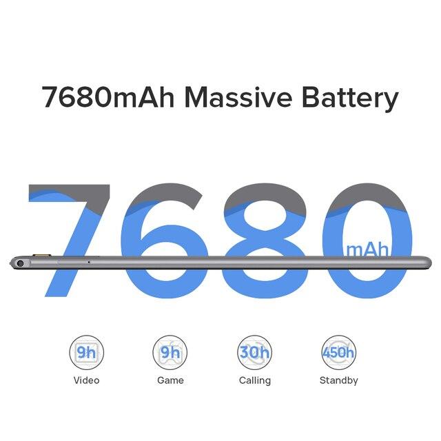 Ulefone Tab A7 Android 11 7680mAh Tablet PC 10.1 ''4G Network 4GB + 64GB Octa Core WIFI 1200*1920 Tablets 13MP Rear Camera 3