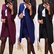 Blazer Jacket Skirts Suits-Set Ladies Office Mini Women 2pcs Bodycon Autumn Long Solid-Color