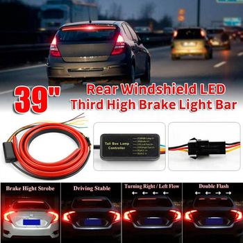 "12V Universal 39"" Car/Truck Flexible Soft LED Rear Window Strip Lights Bar with 4 Light Modes"