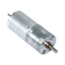 DC 12V 24V Gear Motor 10-600 RPM DC Brush Gear Motor Lengthening Shaft Installable Encoder 25GA370D Geared Motor Electric Motor