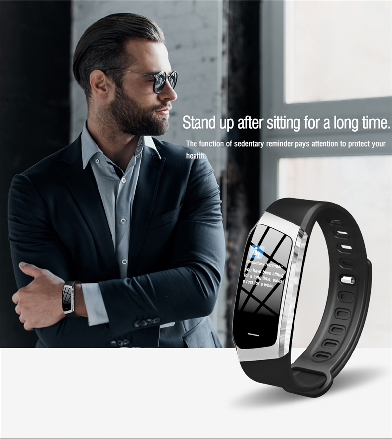 H214317c229a0428bac82f0f21dc1079eb E18 Smart Bracelet Blood Pressure Heart Rate Monitor Fitness Activity Tracker smart watch Waterproof Men Women Sport wrist band