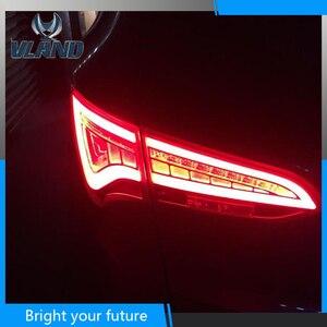 Светодиодный задний фонарь для HYUNDAI SANTA FE 2013, 2014, 2015, 2016, 2017, задний фонарь Santafe, стоп-сигнал, красный дымчатый