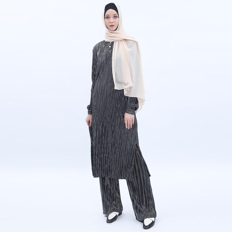 Aaminah Front Black Long Dress Abaya-Indian Muslim Womens Hijab For Gift