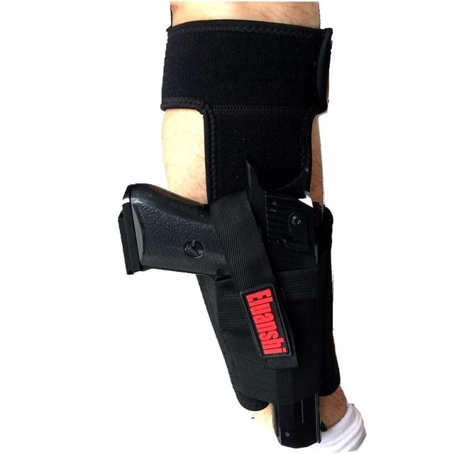 Concealed Carry Ankle Leg Holster For Glock 17 19 22 23 Ruger Lcp Sig 9mm Gun Pistol Tactical Pouch Black Color ELUANSHI 5