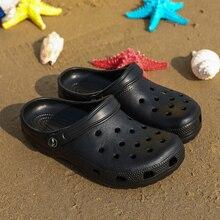 2020 New Summer Unise Croc Shoes Men Beach Sandals Crocks Hole Clogs For Men EVA