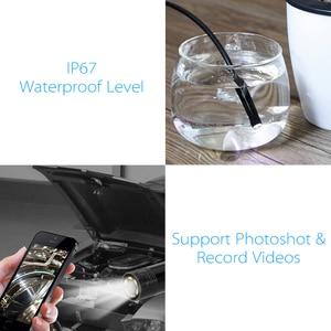 Image 4 - OWSOO endoskop kamera 7MM 6 LED Lens 2m su geçirmez muayene Borescope Mini kamera tel yılan tüp usb kameralı boru muayene cihazı