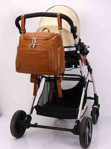 Backpack Diaper-Bag Nappy Stroller Changing-Pad Baby Cosmetic-Bag PU Straps