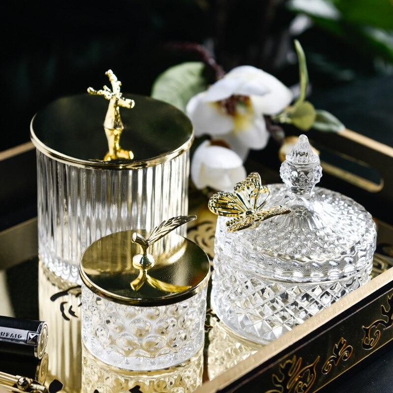 Pots de stockage en verre rétro avec couvercle bonbons créatifs aliments de noël collations thé épices conteneur de céréales cuisine stockage peut décoration