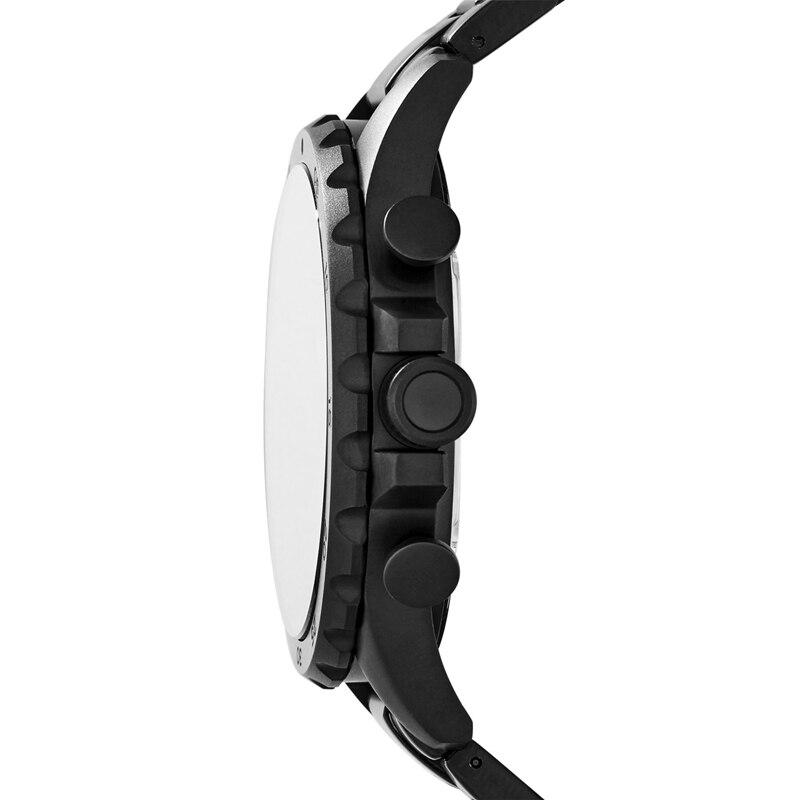 Fossil Männer Uhr Nate Chronograph Schwarz Edelstahl Uhr Schwarz Zifferblatt Quarz Metall Beiläufige Uhr JR1401 - 3