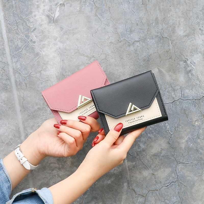 Женский кошелек, милые короткие мини-кошельки, Дамские кожаные кошельки на молнии, Женский кошелек, клатч, держатель для карт, сумка для монет