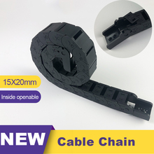 цена на 1m Transmission Chains 15x20 15*20 Plastic Towline Nylon Cable Drag Chain Wire Carrier For Cnc Route