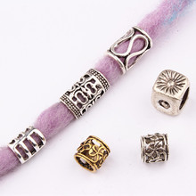 Jewelry-Decoration-Accessories Hair-Rings-Beads Dreadlock African Charms Metal 5pcs Cuffs-Tubes