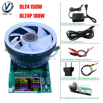 DL24 DL24P 2.4 Inch DC USB Tester Electronic Load Battery Tester 150W 180W Discharge Charge Power Meter Supply Detector Meter m bus mbus meter bus to usb converter no power supply 5 load kh usb m5