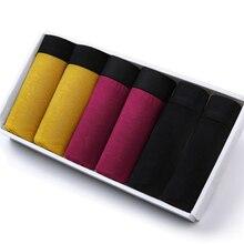 Bóxer transpirable de fibra de bambú para hombre, ropa interior cómoda, pantalones cortos superelásticos, negro, Gay