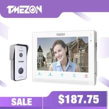 TMEZON 10 Inch Draadloze Wifi Smart IP Video Deurbel Intercom Systeem, 1xTouch Screen Monitor met 1x720P Wired Deurtelefoon Camera(China)