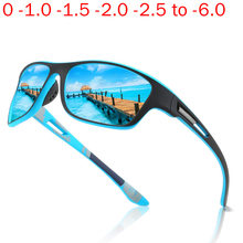Óculos de sol de miopia óptica polarizada para homem óculos de sol quadrados masculino azul condução sungalsses nx