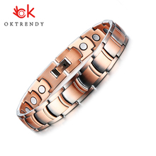 Oktrendy Magnetic Therapy Healing Bracelets for Men Copper Male Health Care Gift Jewelry 3000 Gauss Energy Power 2019 Trendy