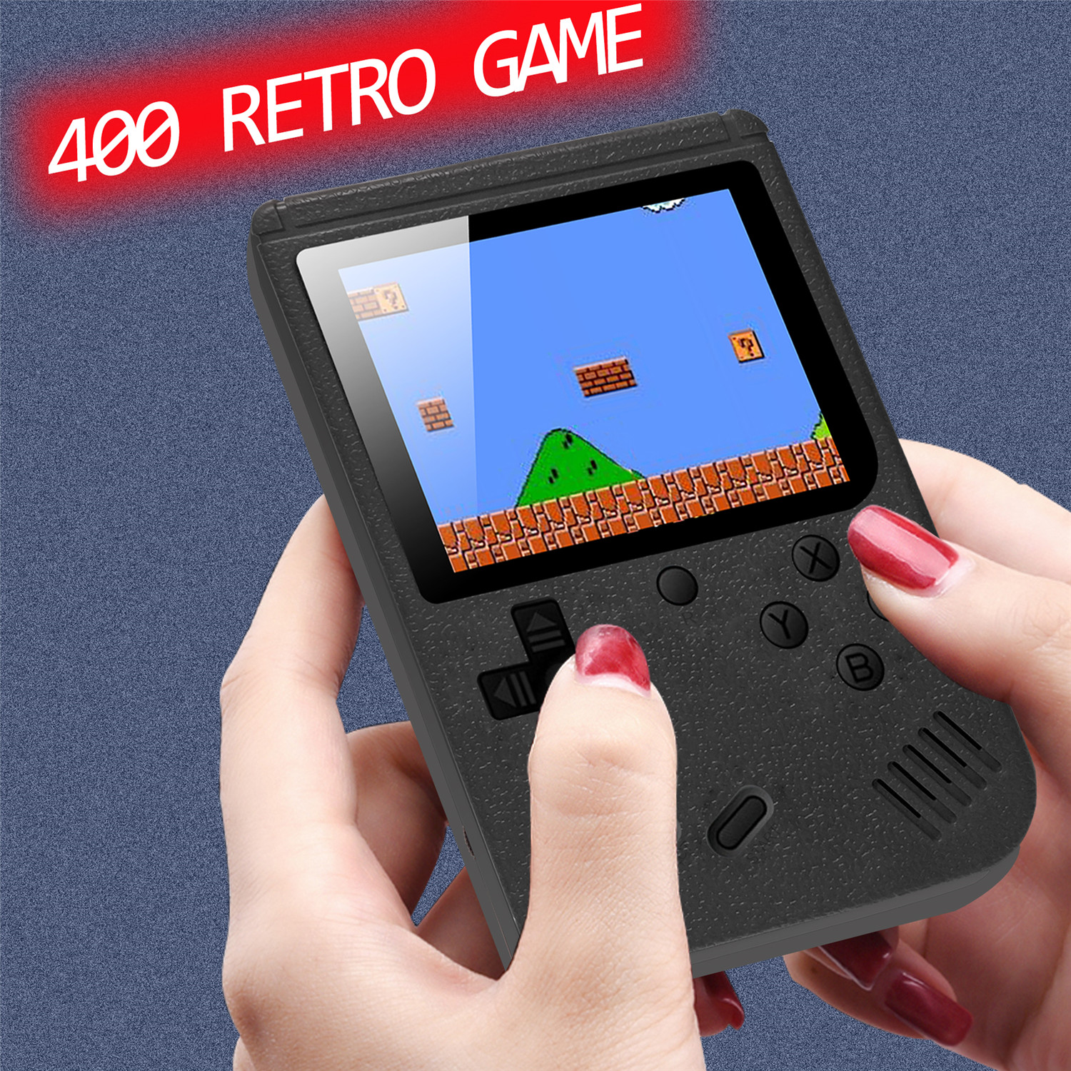 Game Concel 400 Games , Mini Video Game Console Built In 400 Classic Games Retro 8 Bit 3.0 Inch Games AV Out Portable Handheld G