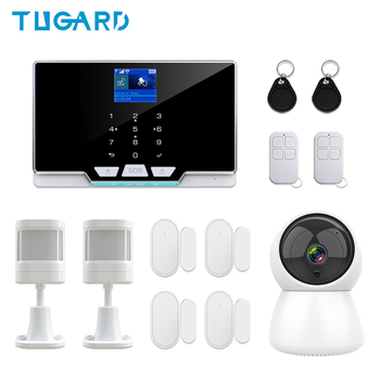цена на G20 Model Tuya WIFI GSM Home Alarm System 433Mhz Wireless House Security Burglar Alarm Kit 1080P IP Surveillance Camera System