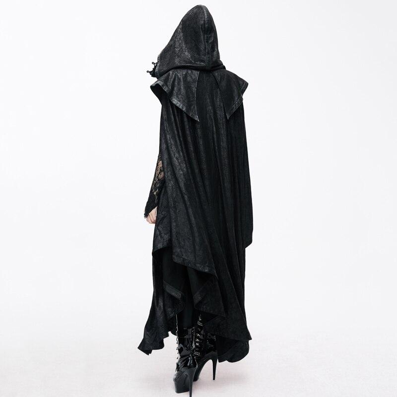 Devil Fashion Women Gothic StyleMysterious Loose Long Cloak Coats Halloween Bat Trench Coats Cape - 2