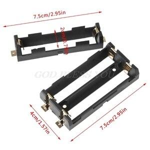 Image 2 - 1x2x18650 시리즈 배터리 홀더 박스 보관 케이스 컨테이너 청동 핀 드롭 배송