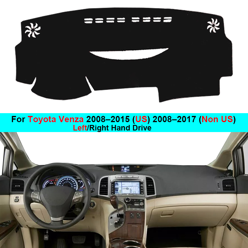 2 Layer Car Dashboard Cover Carpet Cape For Toyota Venza 2008–2015 (US) 2008–2017 (Non US) Rug Shade Pad Carpet Dashmat Sun Shad