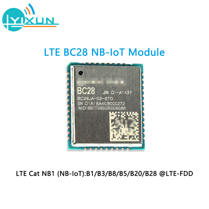 LTE BC28 NB-IoT Module B1 B3 B8 B5 B20 B28 Frequency LCC Package Package Design Compatible With Quectel GSM / GPRS Module
