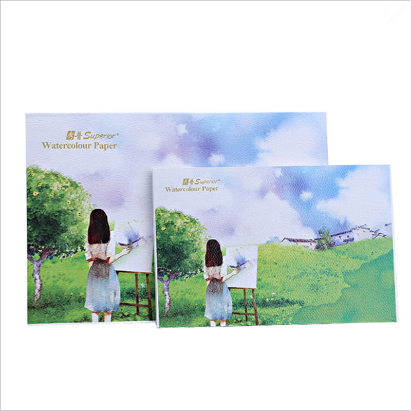 A5 Professional Watercolor Paper 10Sheets Color Lead Paper Hand-Painted Water Color Painting Book Office School Art Supplies