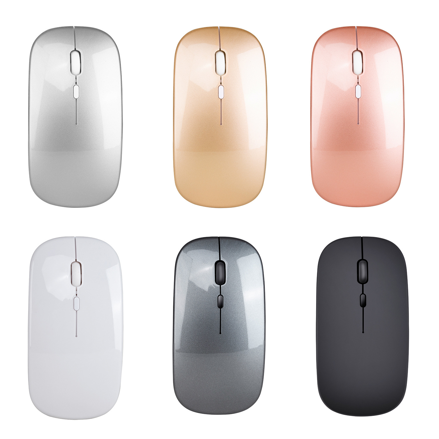 New Wireless Mouse Computer Bluetooth Mouse Silent PC Mause Rechargeable Ergonomic Mouse