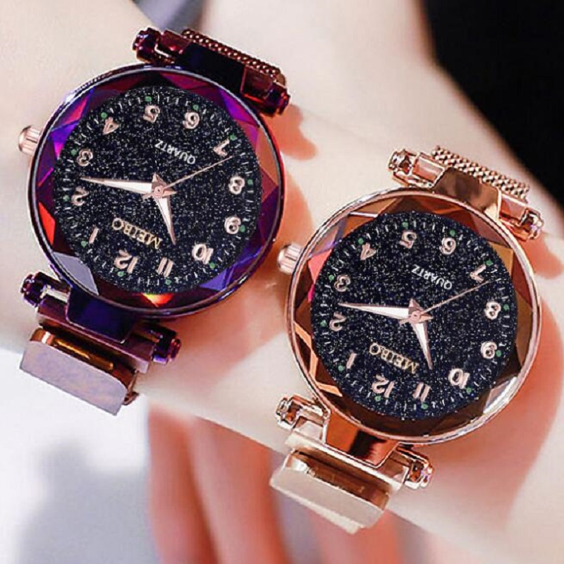 Fashion Ladies Watches Star Sky Steel Magnetic Ladies Bracelet Watch Montre Femme Dress Women's Watch Wrist Watches For Women