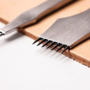 Image 2 - Инструменты для обработки кожи Junetree, ремесла «сделай сам», дырокол для шитья, Дырокол с расстоянием 3 мм/4 мм, 2 + 7 зубцов