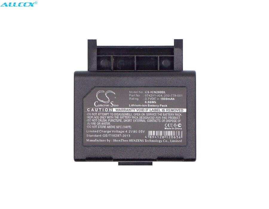 Cameron sino 1800 mah bateria 074201-004, 203-778-001 para intermec cn2