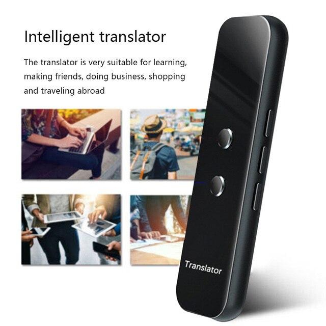 G6 dil çevirmeni akıllı çeviri makinesi akıllı çoklu dil tercüman desteği çeviri 70den fazla
