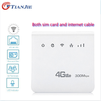 Unlocked 4G LTE CPE Wifi Router Internet Cable Home Router 300Mbps wi-fi Wireless Modem RJ45 LAN Port Dongle with SIM Card slot