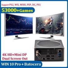 Mini Super Console de PC de Console WIFI pour PS2/WII/WII2/GAMECUBE rétro Console de jeu vidéo de la TV 4K HD avec le jeu 53000 avec le contrôleur câblé