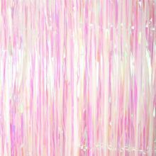 Shimmer Iridescent Foil Fringe Curtain Party Decoration Mermaid Luxury Romantic Backdrop DIY