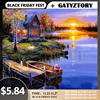 GATYZTORY hot selling The Landscape diy canvas painting by numbers for adults Acrylic Pigment paint by number Arts Craft