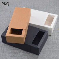 Wholesale Small gift box for wedding Christmas Blank drawer paper box Gift carton Craft cardboard box Jewelry package 50pcs/lot