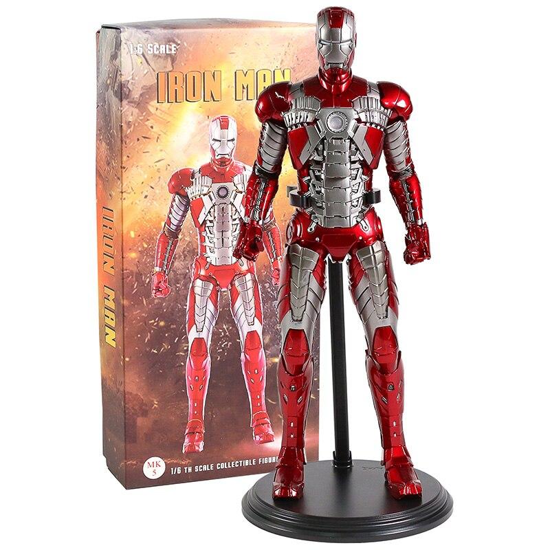 Jouets fous Marvel fer homme marque V MK5 1/6 échelle PVC Figure à collectionner modèle jouet Statue