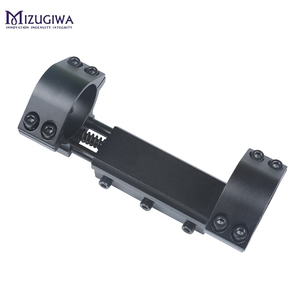 Image 3 - One Piece Airgun Rifle Scope Mount 25.4mm / 30mm Double Ring W/Stop Pin 11mm Rail Hunt Weaver Rail Mount Adapter With Flat top