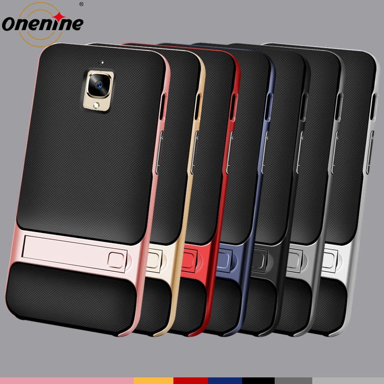 Luxury Mobile Phone Case for Oneplus 3 3T Soft Silicone TPU Back Cover Full Shockproof Stand Holder Funda One Plus Oneplus3T Bag