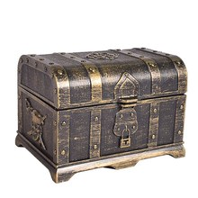 Caixa do tesouro do pirata caixa decorativa do tesouro lembrança caixa de jóias de brinquedo plástico caixas de tesouro decoração de festa tamanho grande