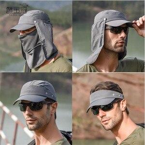 Шляпа от солнца с лицевой поверхностью, уличная Кепка для велоспорта, кепка для рыбалки, пешего туризма, Женская и мужская Кепка с защитой от...